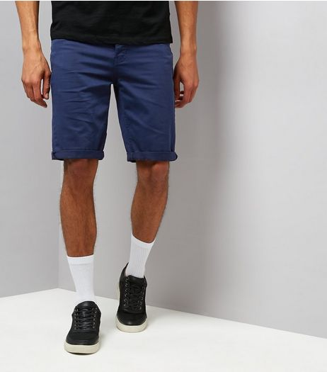 Navy 5 Pocket Slim Leg Shorts | New Look