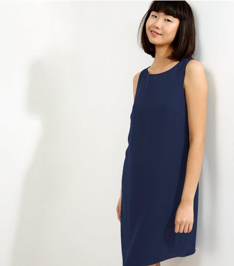 Navy Sleeveless Tunic Dress | New Look
