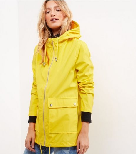 Yellow Matte Rain Coat  | New Look