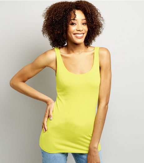 Yellow Scoop Neck Vest  | New Look