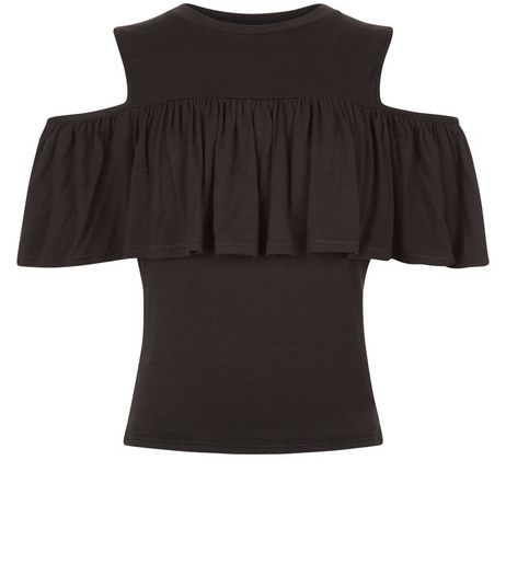 Teens Frill Trim Cold Shoulder Top | New Look