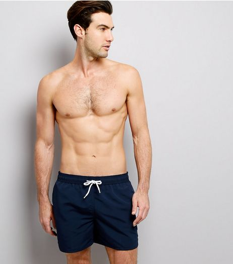 Navy Swim Shorts | New Look