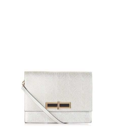 Gold Metallic Textured Clutch | New Look
