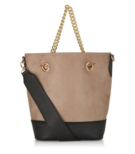 Mink Chain Handle Bucket Bag | New Look