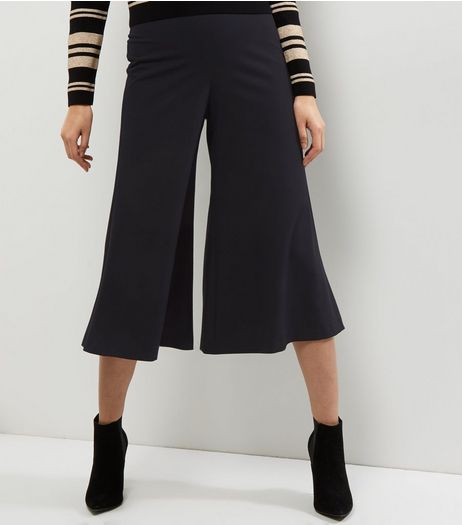Black Frill Hem Culottes  | New Look