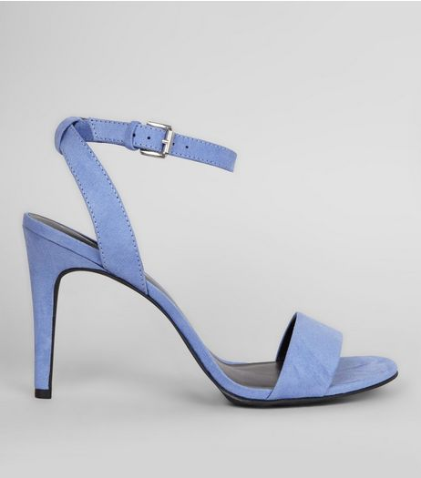 Lilac Suedette Cross Strap Side Heels | New Look