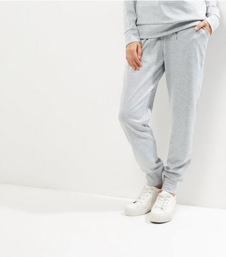 Cameo Rose Grey Tie Waist Joggers  | New Look