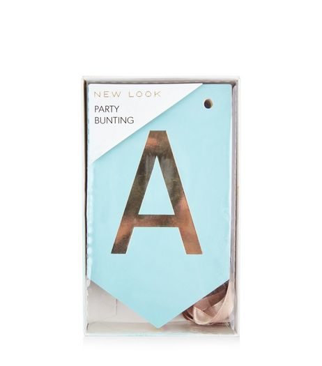 Multicoloured Metallic Letter Party Bunting | New Look
