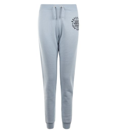 Teens Pale Blue East Coast Print Joggers | New Look