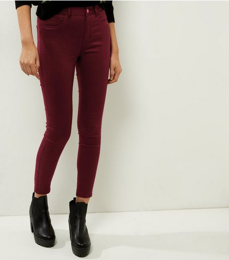 Dark Purple Super Skinny Ankle Grazer Jeans | New Look