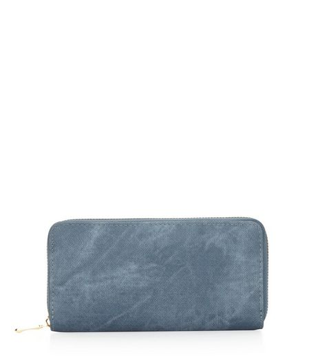 Blue Denim Zip Around Purse | New Look