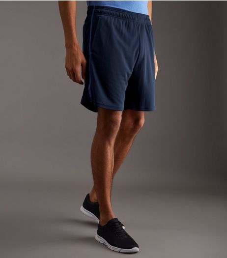 Navy Sports Shorts | New Look