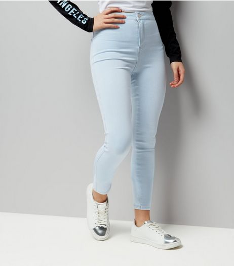 Teens Pale Blue High Waist Skinny Jeans | New Look