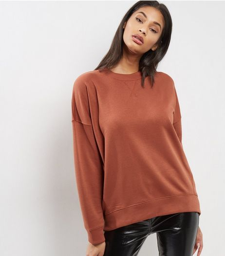 Light Brown Balloon Sleeve Sweater | New Look