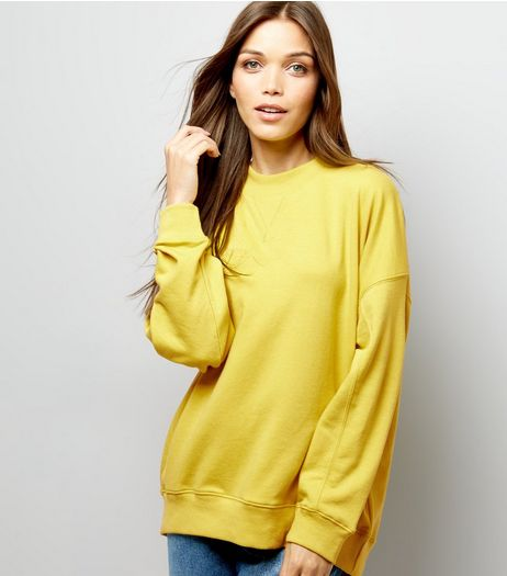 Lime Balloon Sleeve Sweater  | New Look