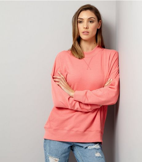 Pink Balloon Sleeve Sweater | New Look