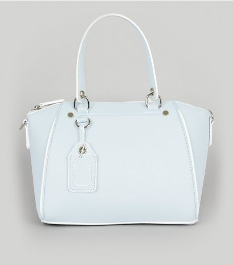 Blue Mini Bowler Bag | New Look