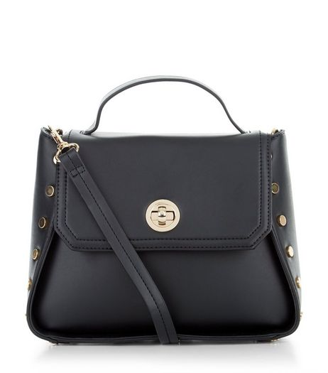 Black Stud Side Shoulder Bag | New Look