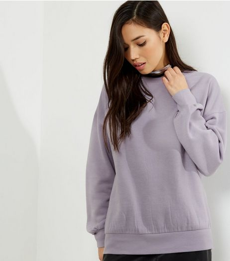 Lilac Balloon Sleeve Sweater  | New Look