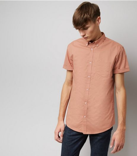 Pink Cotton Short Sleeve Shirt | New Look
