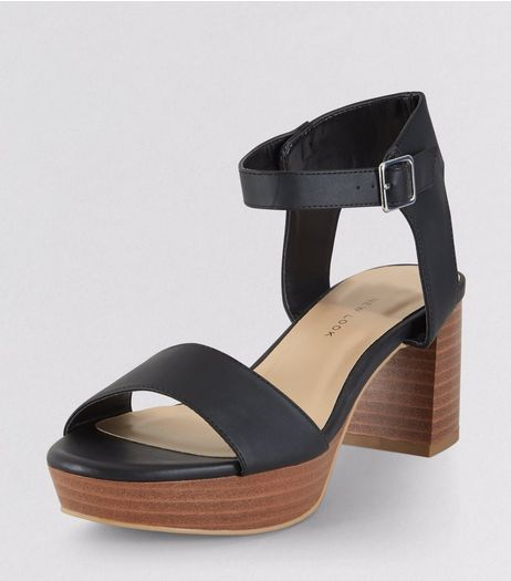 Teens Black Contrast Sole Heels | New Look
