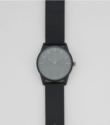 Black Skull Dial Watch  | New Look