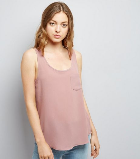 JDY Mid Pink V Neck Shirt  | New Look