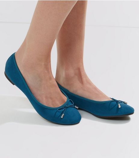 Blue Ballet Pumps  | New Look
