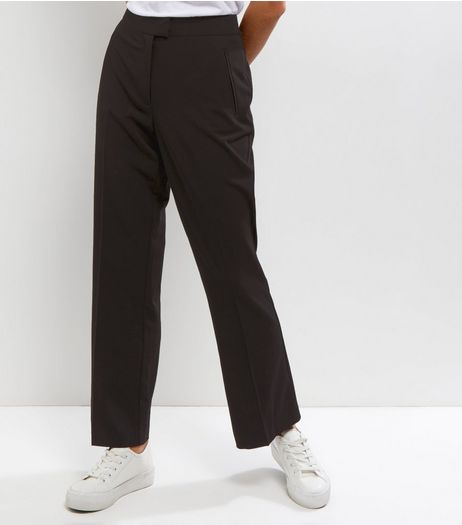 Petite Black Bootcut Suit Trousers  | New Look