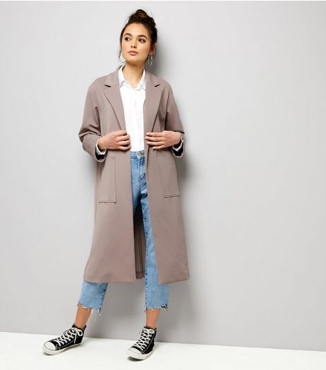 Lilac Soft Maxi Duster Coat  | New Look
