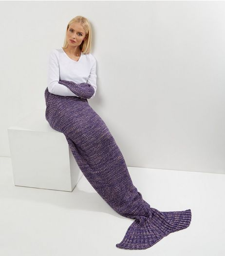 Purple Mermaid Tail Blanket | New Look