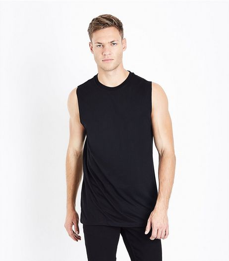 Black Dropped Armhole Vest | New Look