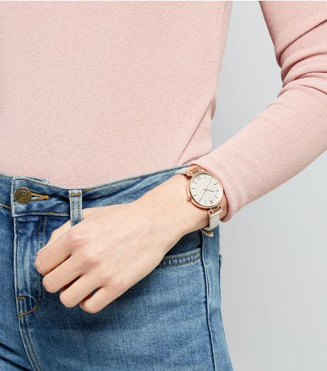 Grey Metal Trim Watch | New Look