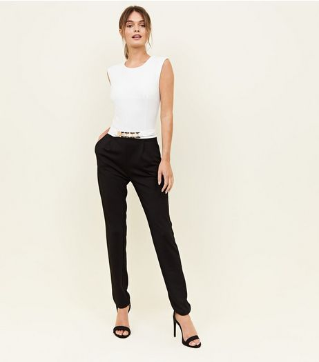 Mela Black Belted Jumpsuit  | New Look