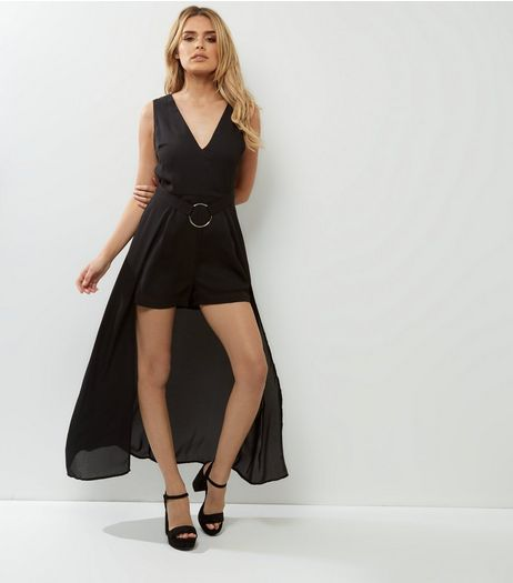 Influence Black Maxi Ring Waist Playsuit  | New Look
