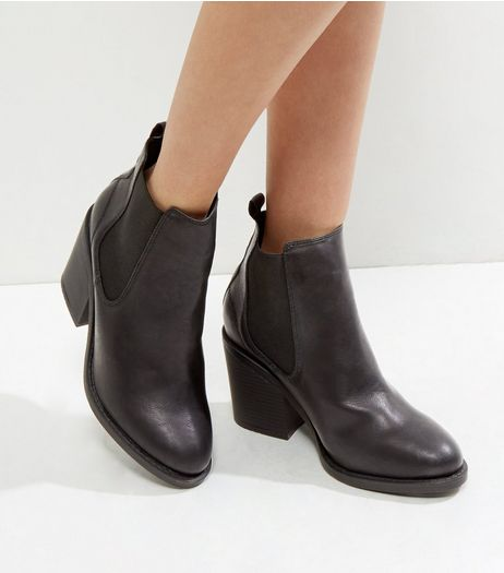Wide Fit Black Pointed Chelsea Boots | New Look