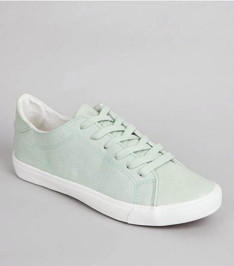 Mint Green Lace Up Trainers | New Look