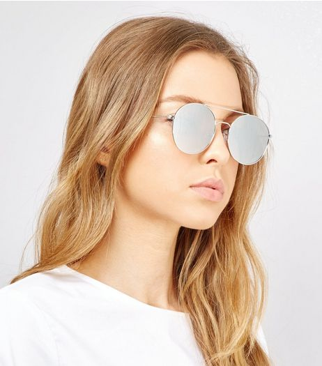 Silver Circle Lens Sunglasses | New Look