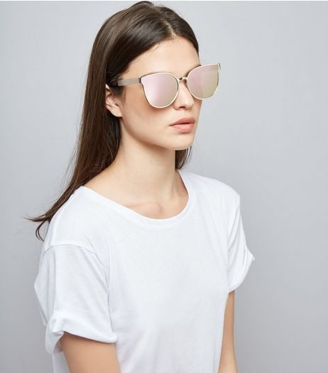 Gold Holographic Sunglasses | New Look