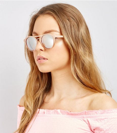 Rose Gold Sunglasses | New Look