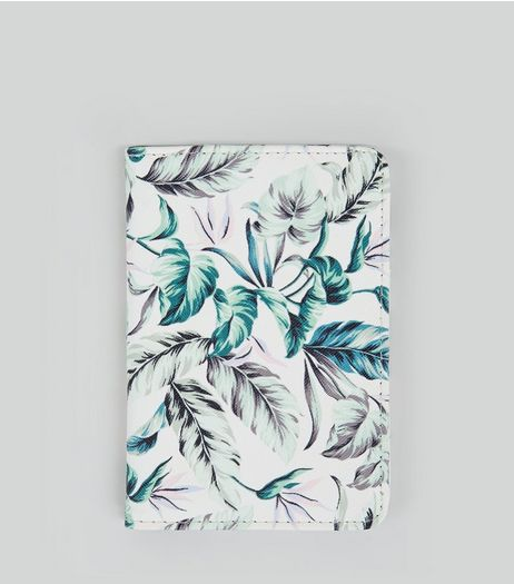 White Tropical Floral Print Passport Cover | New Look