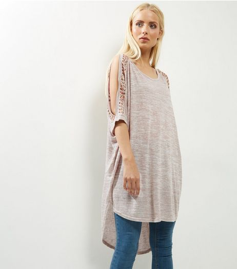 Blue Vanilla Camel Batwing Sleeve Cold Shoulder Top  | New Look