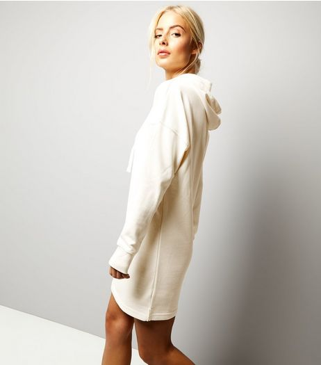 Cream Hooded Jumper Dress | New Look
