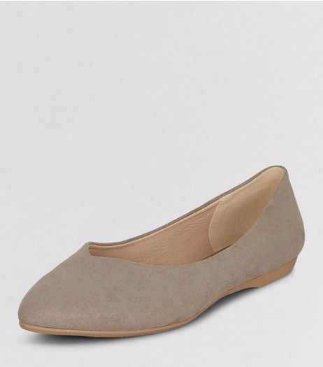 Teens Light Brown Suedette Pointed Shoes  | New Look