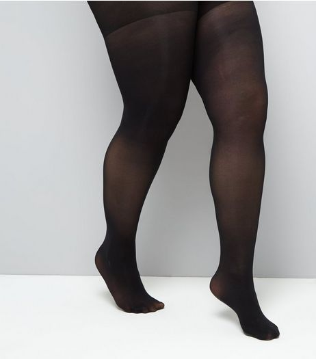 Curves Black 40 Denier Shaping Tights | New Look