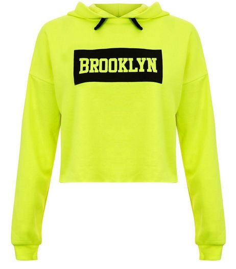 Teens Yellow Brooklyn Hoodie | New Look
