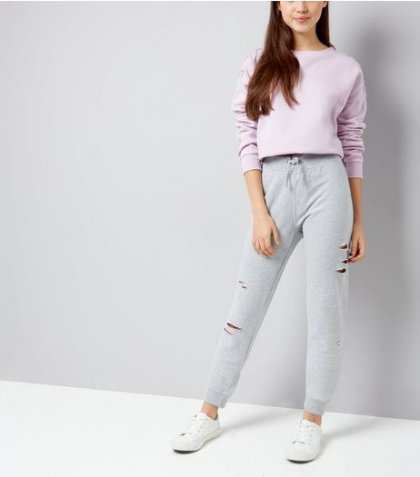 Teens Grey Ripped Joggers | New Look
