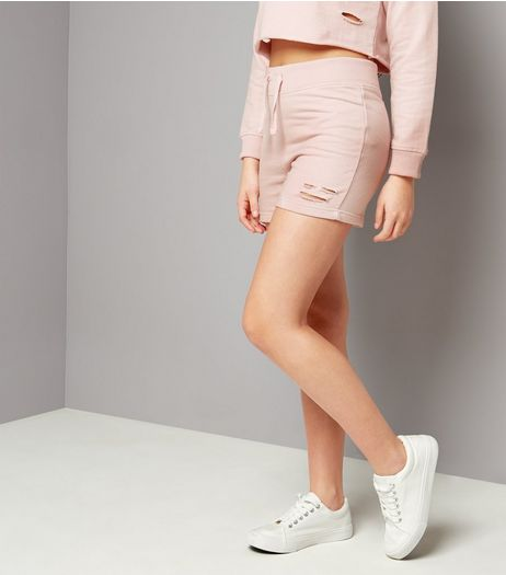 Teens Lilac Ripped Hem Shorts | New Look