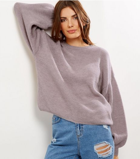 Light Purple Balloon Sleeve Jumper | New Look