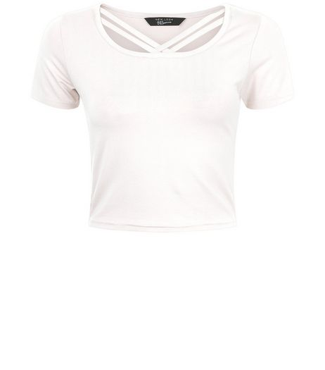 Teens Cream Double Strap Front T-Shirt | New Look